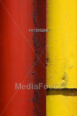 Colored Iron Metal Sheet In La Boca Buenos Aires Stock Photo