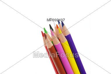 Colored Pencils Stock Photo