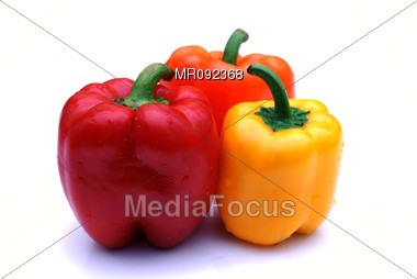 Colored Pepper Stock Photo