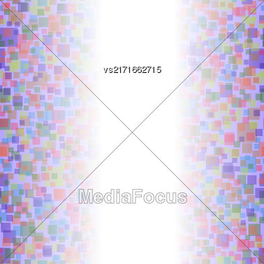 Colored Squares Pattern. Abstract Transparent Colorful Background Stock Photo