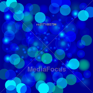 Colorful Blurred Light Background. Abstract Blue Light Pattern Stock Photo