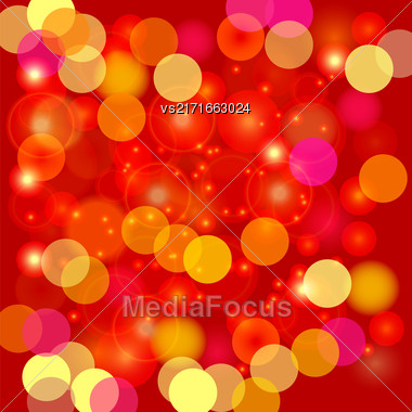 Colorful Blurred Light Background. Abstract Light Pattern Stock Photo