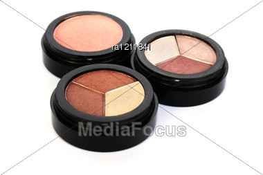 Colorful Eye Shadows And Blush Stock Photo