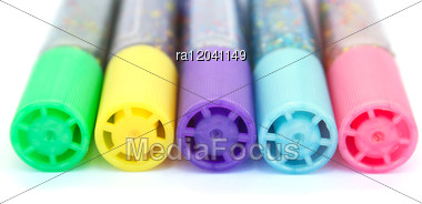 Colorful Felt Tip Pens Stock Photo