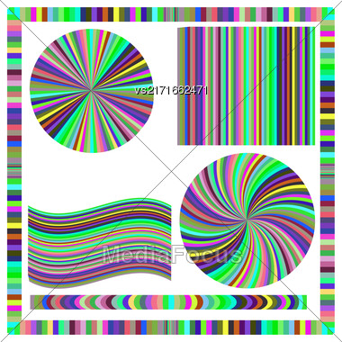 Colorful Frame And Circle Isolated On White Background Stock Photo