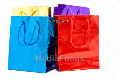 colorful gift shopping bags Stock Photo