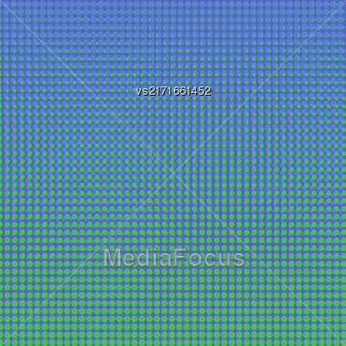 Colorful Halftone Background. Colored Dots Effect. Halftone Blue Green Pattern Stock Photo