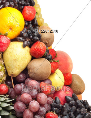 Colorful Healthy Fresh Fruit. Shot In A Studio Stock Photo