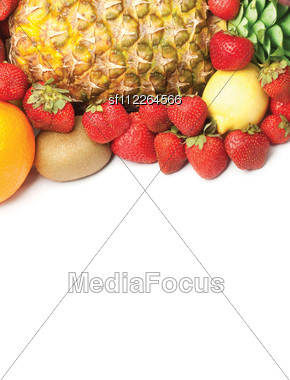 Colorful Healthy Fresh Fruit Stock Photo