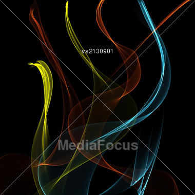 Colorful Illustration With Abstract Background And Color Smoke For Your Design Stock Photo