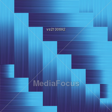 Colorful Illustration With Blue Metallic Background For Your Design Stock Photo