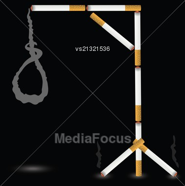 Colorful Illustration With Gallows For Your Design Stock Photo