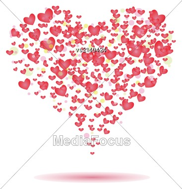 Colorful Illustration With Hearts For Your Design Stock Photo