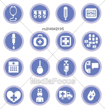 Colorful Illustration With Medical Icons For Your Design Stock Photo
