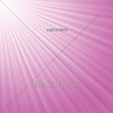 Colorful Illustration With Pink Raysl Background For Your Design Stock Photo