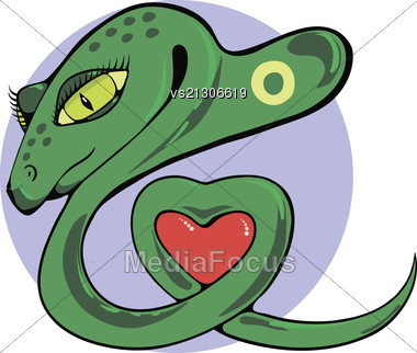 Colorful Illustration With Snake For Your Design Stock Photo