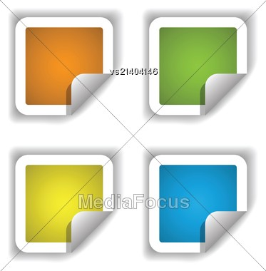 Colorful Illustration With Stikers For Your Design Stock Photo
