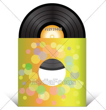 Colorful Illustration With Vinyl Record For Your Design Stock Photo