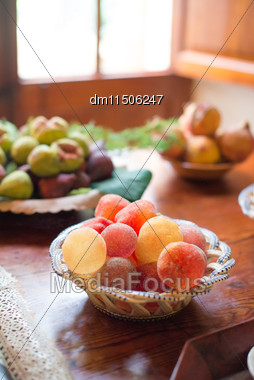 Colorful Jelly Candies On The Table Stock Photo