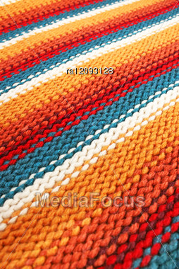 Colorful Knitwear As A Background. Stock Photo