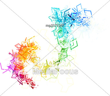 Colorful Lines On White Background. Vector Illustration Stock Photo