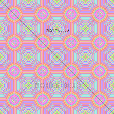 Colorful Ornamental Seamless Line Pattern. Endless Texture. Oriental Geometric Ornament Stock Photo