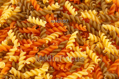 Colorful Pasta As A Background Stock Photo