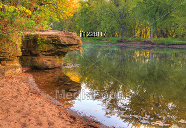 Colorful Scenic Landscape In High Dynamic Range. Stock Photo