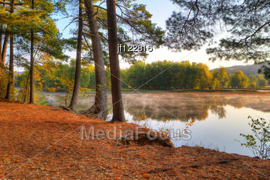 Colorful Scenic Landscape In High Dynamic Range. Stock Photo