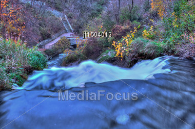 Colorful Scenic Landscape In High Dynamic Range Stock Photo