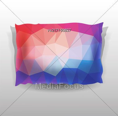 Colorful Soft Pillow Isolated On Grey Background Stock Photo