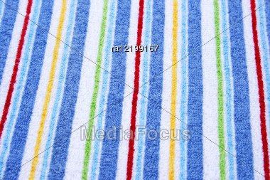 Colorful Towel As A Background. Stock Photo