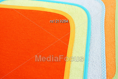 Colorful Towels As A Background. Stock Photo