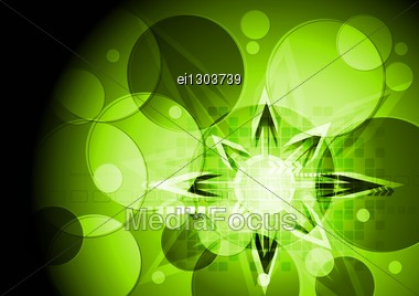 Colorful Vector Background With Circles. Stock Photo
