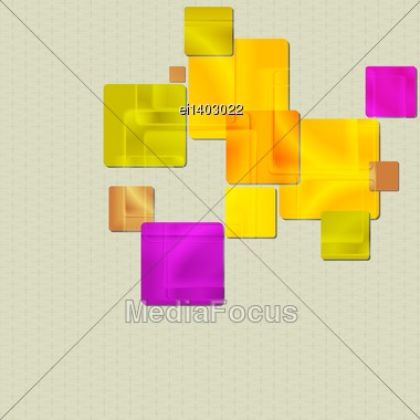 Colourful Squares Design. Vector Background Eps 10 Stock Photo