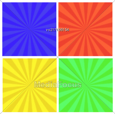 Comics Book Background. Halftone Patterns. Collection Dotted Background Stock Photo
