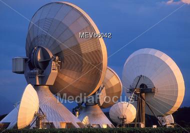 Communications Technology - Radio Telescope Stock Photo