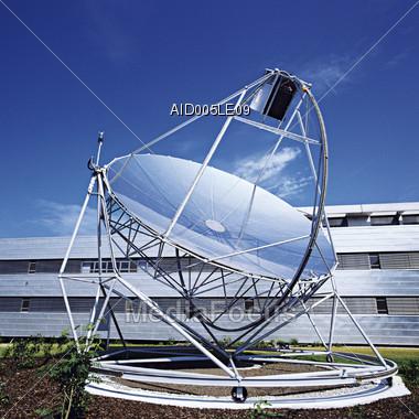 Communications Technology - Satellite Dish Stock Photo
