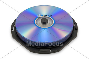 Compact Discs Stacked Stock Photo