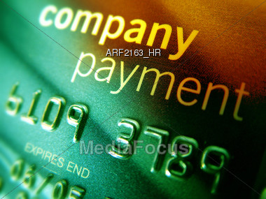 Company Credit Card Stock Photo
