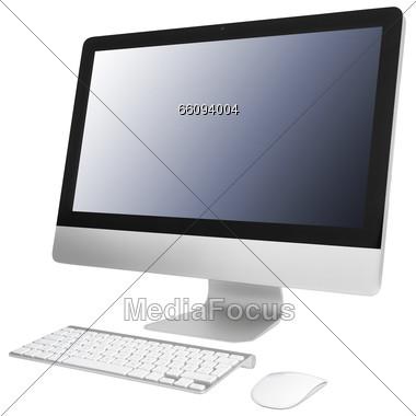 Royalty-Free Stock Photo: Computer, Monitor, Keyboard, Mouse