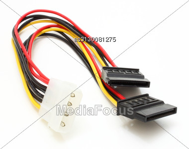 Computer Power Unit In An Open Kind With Details And Electric Wires Stock Photo