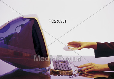 Computer System Stock Photo