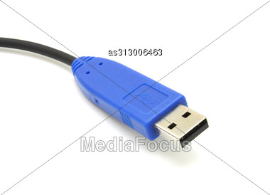 Computer Usb Cable Isolated Data Stock Photo