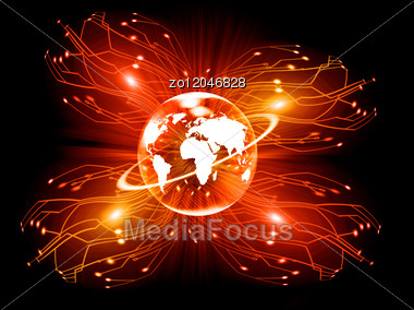 Concept Of Importance Of Electronic Communications Stock Photo