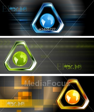 Concept Technology Banners. Vector Design Eps 10 Stock Photo