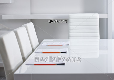 Conference Table And Chairs Stock Photo