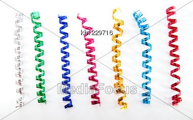 Confetti Or Streamer Stock Photo