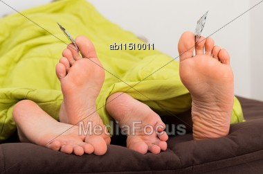 Conscious Sexual Life, Using Condom For Protection Stock Photo