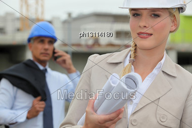 Construction Managers Stock Photo